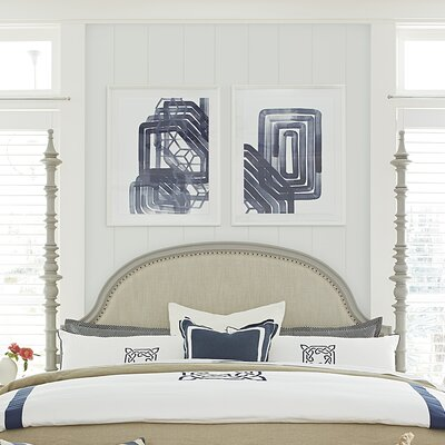 Dogwood Upholstered Panel Headboard Size: King