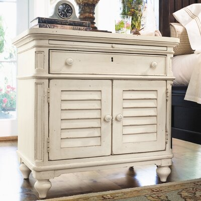 Steel Magnolia 1 Drawer Nightstand Finish: Linen