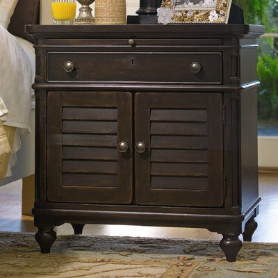 Steel Magnolia 1 Drawer Nightstand Color: Tobacco