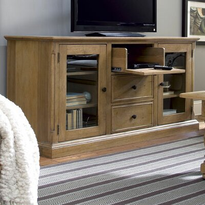 Down Home Entertainment Center Color: Distressed Oatmeal