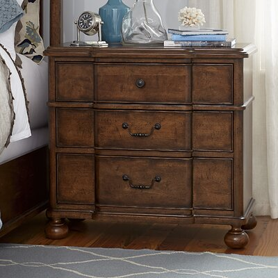 Dogwood 3-Drawer Nightstand Finish: Low Tide