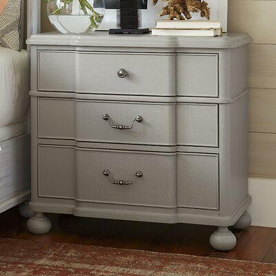 Dogwood 3-Drawer Nightstand Color: Cobblestone