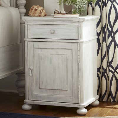 Dogwood 1 Drawer Nightstand Finish: Blossom White