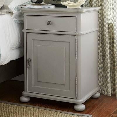 Dogwood 1 Drawer Nightstand Color: Cobblestone