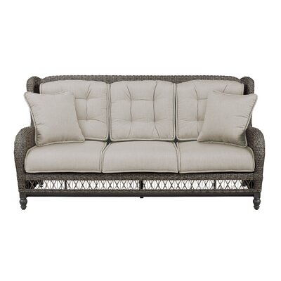 Dogwood Sofa with Cushions Fabric: Sailcloth Space