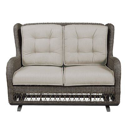 Dogwood Loveseat with Cushions Fabric: Sailcloth Space