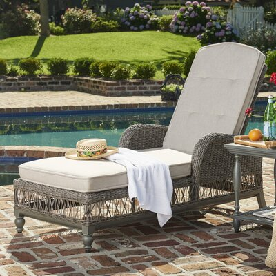 Dogwood Chaise Lounge with Cushion Fabric: Sailcloth Space
