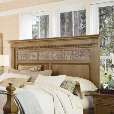 Down Home Aunt Peggys Panel Headboard Size: California King, Color: Distressed Oatmeal