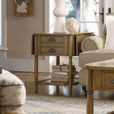 Cheap Paula Deen Home Down Home Drop Leaf End Table in Distressed Oatmeal Finish (PDH1247)