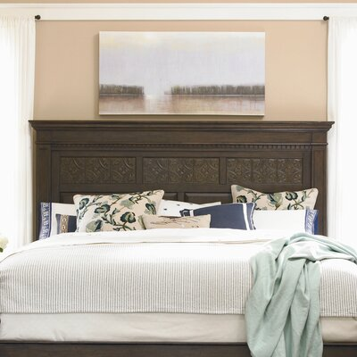Down Home Aunt Peggys Panel Headboard Size: King, Color: Distressed Molasses