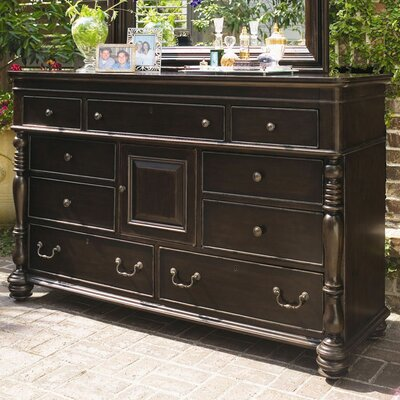 Steel Magnolia 9 Drawer Combo Dresser Color: Tobacco