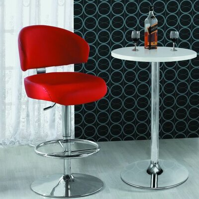 In store financing Adjustable Bar Stool in Red...