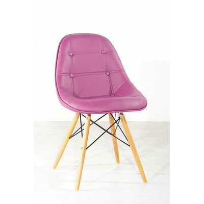 Easy financing Gotham Side Chair Upholstery: Purpl...