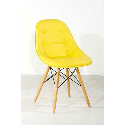 No credit financing Gotham Side Chair Upholstery: Yello...