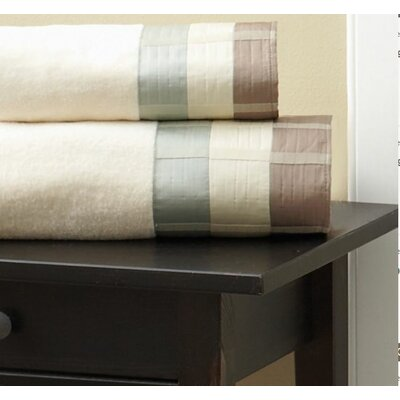Fairfax Embel Bath Towel Color: Taupe