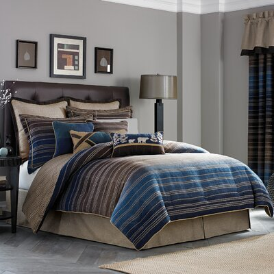 Clairmont 4 Piece Reversible Comforter Set Size: King