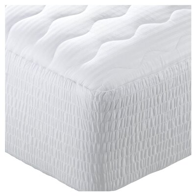 Stain Release Antimicrobial Polyester Mattress Pad Size: Queen