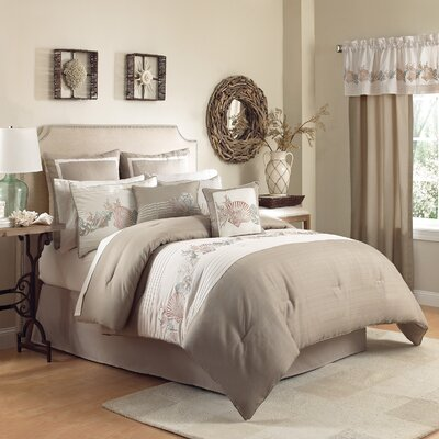 Seashore 4 Piece Comforter Set Size: King