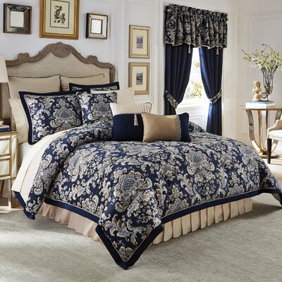 Imperial 4 Piece Reversible Comforter Set Size: California King