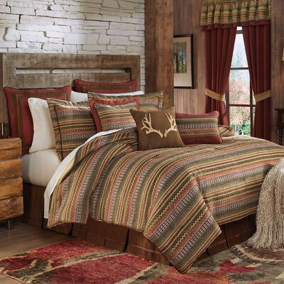 Horizon 4 Piece Reversible Comforter Set Size: King