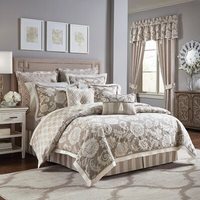 Anessa 4 Piece Comforter Set Size: California King