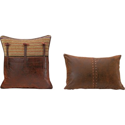 Plateau Multicolored Leather Throw Pillow