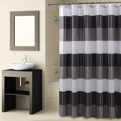 Fairfax Shower Curtain Color: Black