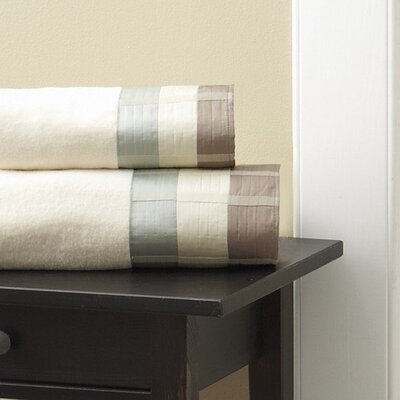 Fairfax Embel Fingertip Towel Color: Taupe