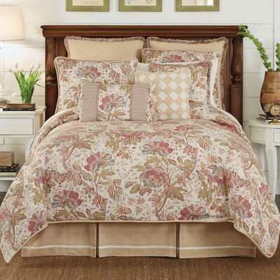 Camille 4 Piece Comforter Set Size: Queen