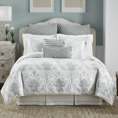 Eleyana 4 Piece Reversible Comforter Set Size: King