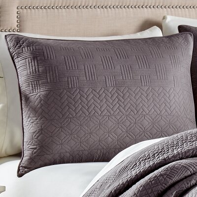 Crestwood Sham Size: King, Color: Gray