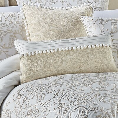 Cela 100% Cotton Boudoir/Breakfast Pillow