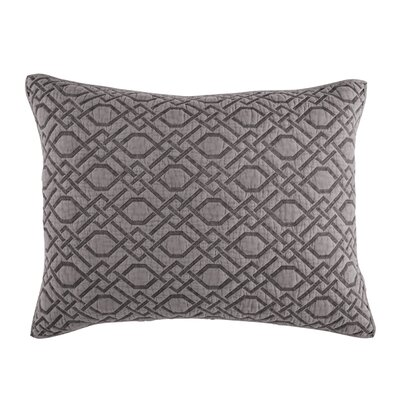 Alana Quilt Sham Size: King, Color: Gray
