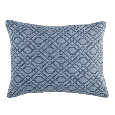 Alana Quilt Sham Size: King, Color: Blue