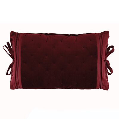 Carissa Tie Side Boudoir Pillow Color: Merlot