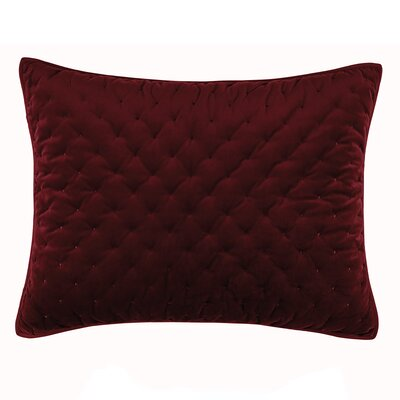 Carissa Sham Color: Merlot, Size: King
