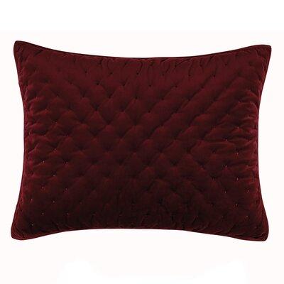 Carissa Sham Color: Merlot, Size: Standard