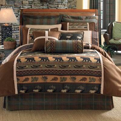 Caribou 4 Piece Comforter Set Size: King