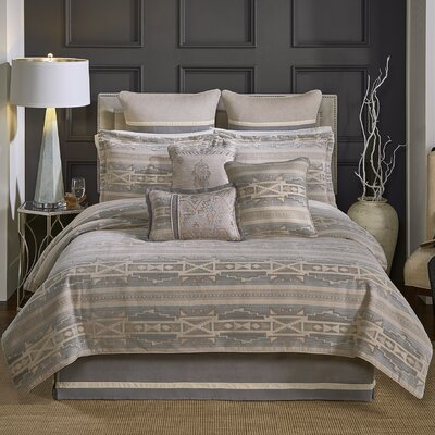 Ansonia 4 Piece Reversible Comforter Set Size: King