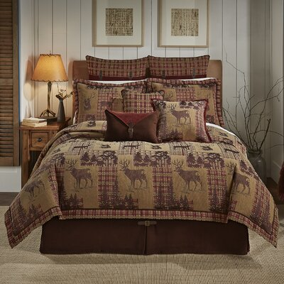 Glendale 4 Piece Reversible Comforter Set Size: King