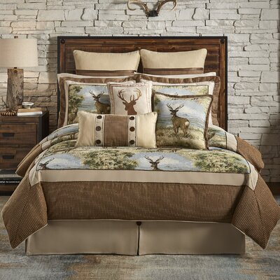 Cold Springs 4 Piece Reversible Comforter Set Size: Queen