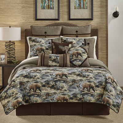 Kodiak 4 Piece Reversible Comforter Set Size: King