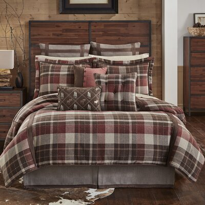 Kent 4 Piece Reversible Comforter Set Size: King