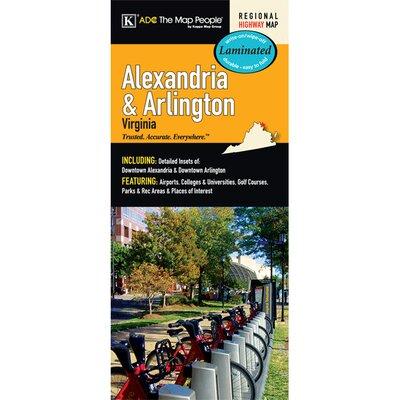 Alexandria/Arlington Laminated Map 14259