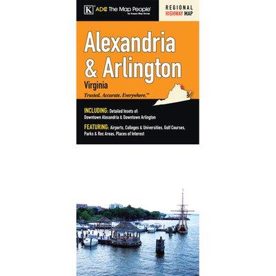 Alexandria/Arlington Fold Map 16239