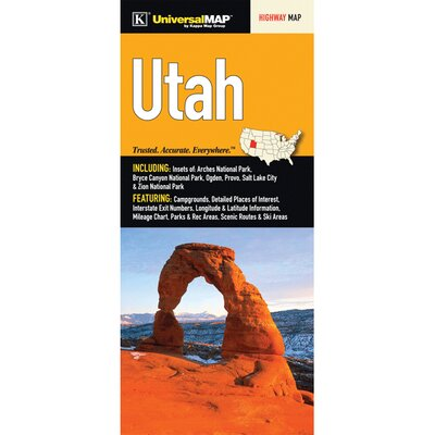 Utah Fold Map (Set of 2) 15106