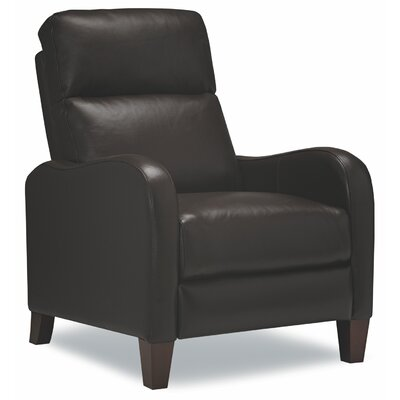 James Leather Manual Recliner Upholstery: Chocolate