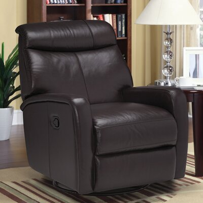 Howie Leather Manual Swivel Recliner