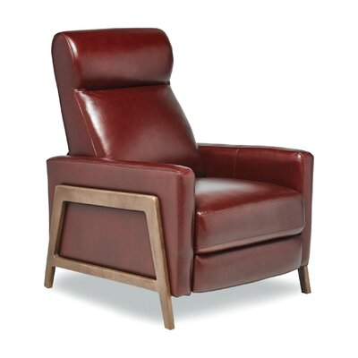 Kenny Leather Manual Recliner Finish: Palermo Fire