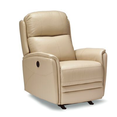 Vance Leather Recliner Upholstery: Black